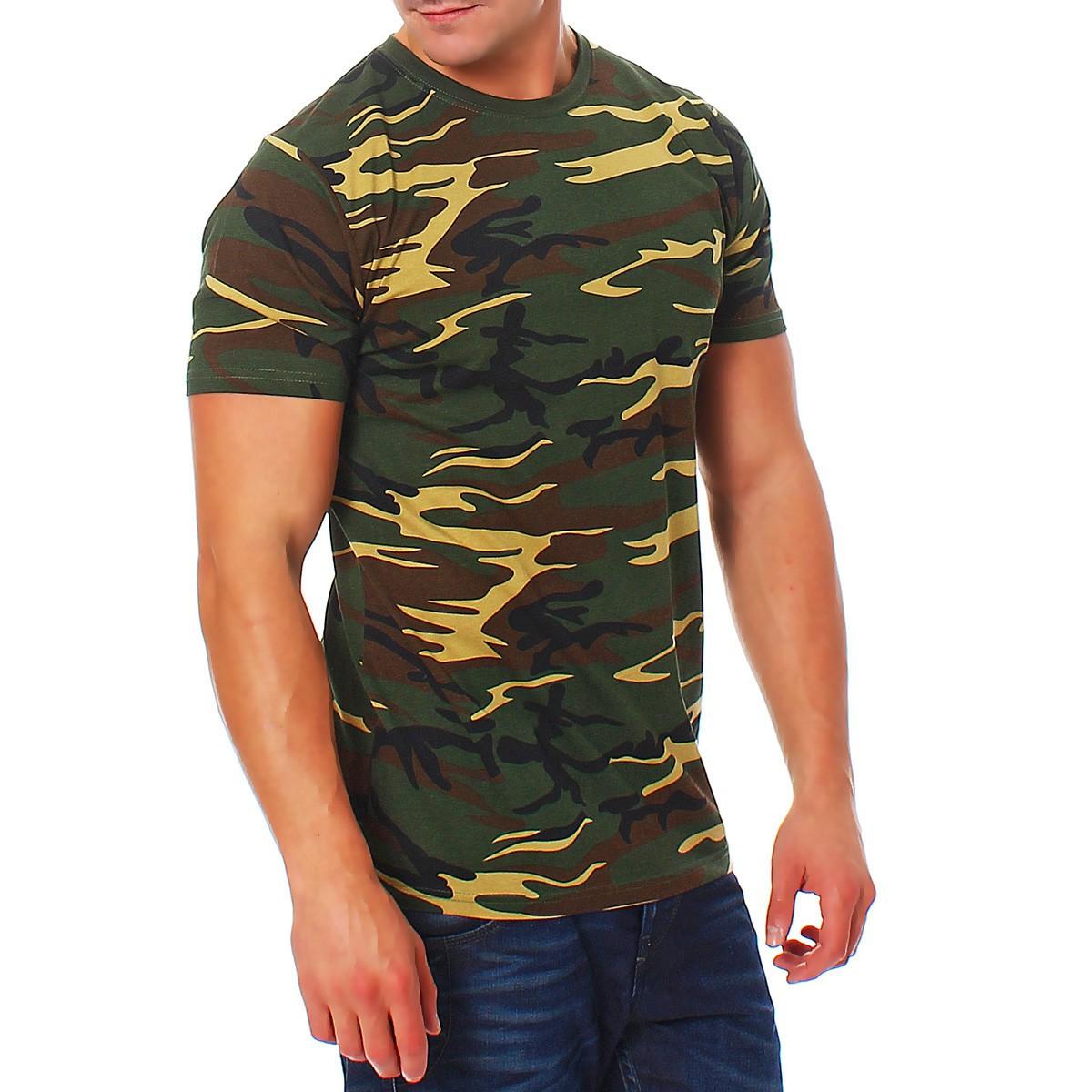 herren camouflage t shirt army military bundeswehr gr n. Black Bedroom Furniture Sets. Home Design Ideas